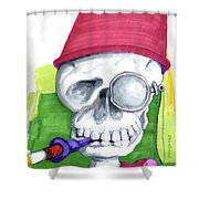Monocle And Fez Shower Curtain