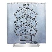 Monopoly Money Patent Shower Curtain