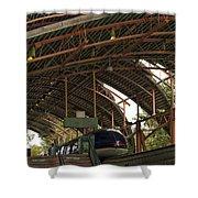 Monorail Depot Disneyland 01 Shower Curtain