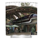 Monorail Depot Disneyland 02 Shower Curtain