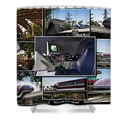 Monorail Disneyland Collage Shower Curtain