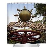 Monorail Signage Disneyland Shower Curtain