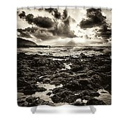 Monotone Explosion Shower Curtain