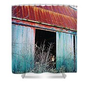 Monroe Co. Michigan Barn Shower Curtain