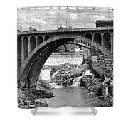 Monroe St Bridge Of Spokane Shower Curtain