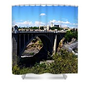 Monroe Street Bridge - Spokane Shower Curtain