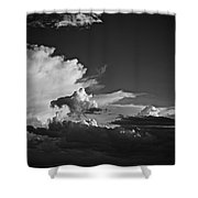 Monsoon Clouds At Sunset Shower Curtain