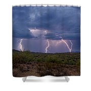 Monsoon Madness Strikes  Shower Curtain