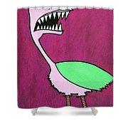 Monster Bird Shower Curtain