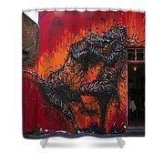Monster Brawl Shower Curtain