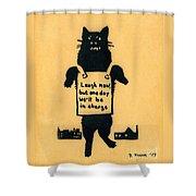 Monster Cat Shower Curtain
