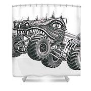 Monster Truck Shower Curtain