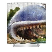 Monstro The Whale At Disneyland All Teeth Photo Art Shower Curtain