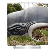 Monstro The Whale At Disneyland Side View Shower Curtain