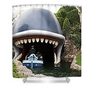 Monstro The Whale Boat Ride At Disneyland Shower Curtain