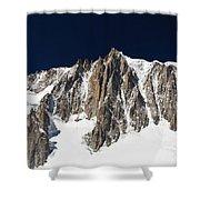 Mont Blanc Massif Shower Curtain