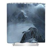 Mont Blanc Storm Shower Curtain