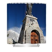 Mont Chetif With Small Chapel Shower Curtain