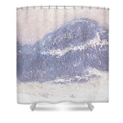 Mont Kolsaas Shower Curtain by Claude Monet