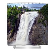 Mont Morency Falls Shower Curtain