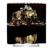 Mont Saint Michel At Night 1 Shower Curtain