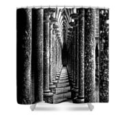 Mont St Michel Pillars Shower Curtain