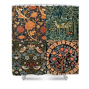 Montage Of Morris Designs Shower Curtain