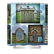 Montage Of Outhouses Shower Curtain