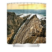 Montana De Oro Shore Shower Curtain