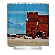 Montana Mountaintown Shower Curtain