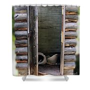Montana Outhouse 02 Shower Curtain