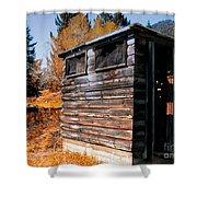 Montana Outhouse 03 Shower Curtain