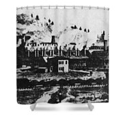 Montana Smelting, 1880s Shower Curtain