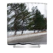Montana Weather Report Shower Curtain