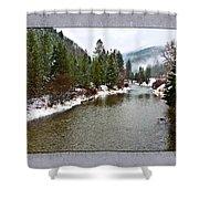 Montana Winter Frame Shower Curtain