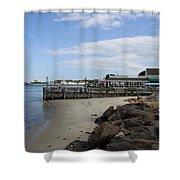 Montauk Port Long Island Shower Curtain