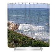Montauk Pt. Long Island Shower Curtain