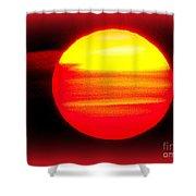 Montauk Sunset Abstract Shower Curtain