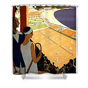 Monte-carlo - Travel Poster For Plm - 1930 Shower Curtain