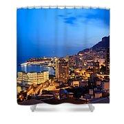 Monte Carlo Cityscape At Night Shower Curtain