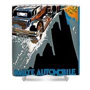 Monte Carlo Rallye Automobile Shower Curtain