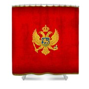 Montenegro Flag Vintage Distressed Finish Shower Curtain