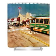 Monterey And Cable Car Bus Shower Curtain