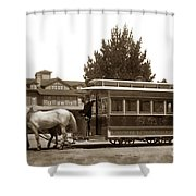 Monterey And Pacific Grove Street Railway Circa 1895 Shower Curtain