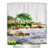 Monterey- California Sketchbook Project Shower Curtain