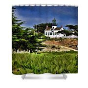 Monterey Lighthouse Shower Curtain