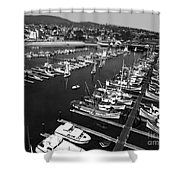 Monterey Marina With Fishing Boats In Slips Sept. 4 1961  Shower Curtain