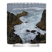 Monterey Rocks - California Shower Curtain