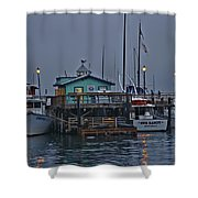 Monterey Wharf 2 Shower Curtain