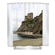 Monterosso Harbor Pier Shower Curtain